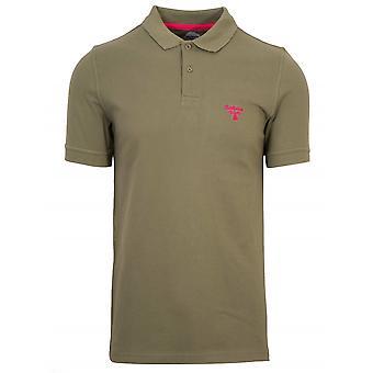 Barbour Beacon Barbour Beacon Khaki Green Polo Shirt