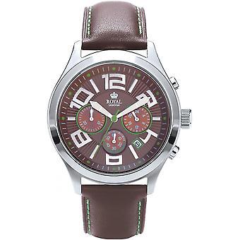 Watch Royal London 41144-02 - Brown round man leather