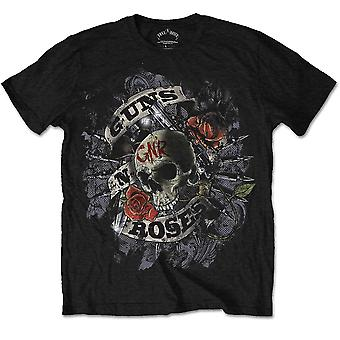 Guns n Roses Skull and Pistols Slash Rock Official T-Shirt