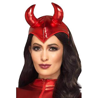 Fever Devil Headband Adult Red