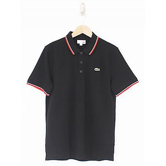 Lacoste Sport Tipped Pique Polo - Black