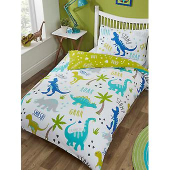 Roarsome Dinosaur Duvet Cover and Pillowcase Set