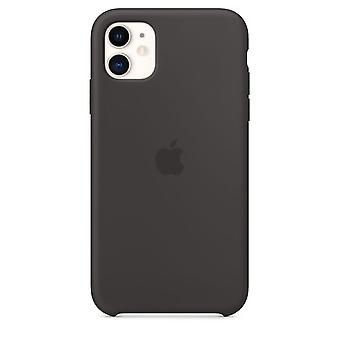 Original emballage MWYH2ZM/A Apple Silicone Microfiber Cover Case til iPhone 11 Pro Max - Sort