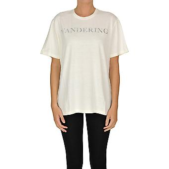 Wandering Ezgl224002 Women's Beige Cotton T-shirt