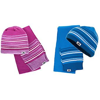 Trespass Childrens/Kids Hedgehog Winter Hat And Scarf Set