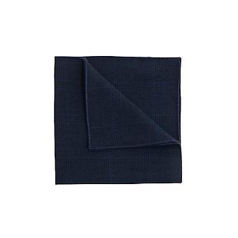 Dobell Mens Navy Check Seersucker Pocket Square