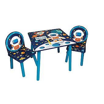 Conjunto de mesa e 2 cadeiras Space Adventures