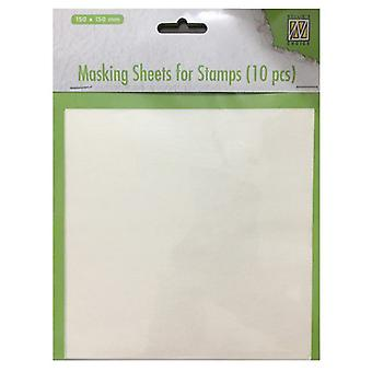 Nellie-apos;s Choice Masking feuilles pour timbres 10 feuilles MSFS001 150x150mm