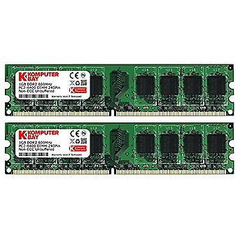 Komputerbay 2GB 2X 1gb DDR2 800mHz PC2-6300 PC2-6400 DDR2 800 (240 PIN) DImm Desktop Memory