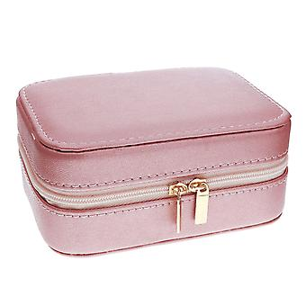 Mele - Aimee Rose Goldtone PU Jewellery Box With Mirror & Compartments 5217