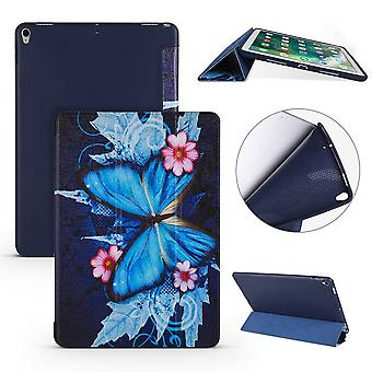 Para iPad Air 3 (2019) Funda, Cuero Folio PU + TPU 3-folding Cover, Butterflies