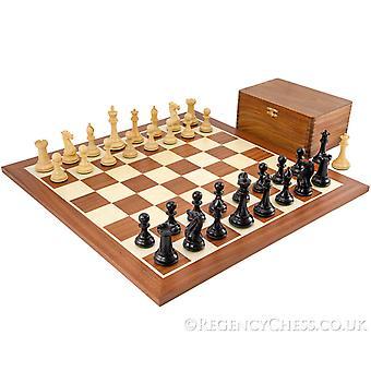 Holburne Ebony ja mahonki Staunton-tyyppiset shakkinappulat