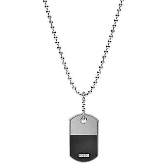 Fossil necklace and pendant JF03312040 - VINTAGE CASUAL Steel Silver Men