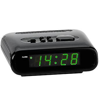 Atlanta 156/7 herätyskello voima kellon digital musta vihreä snooze digitaalinen herätyskello