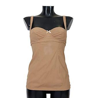 Dolce & Gabbana Beige Silk Babydoll Lingerie -- UNW0032688