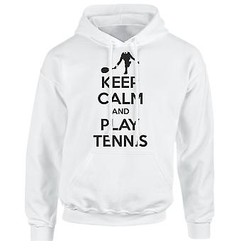 Keep Calm And Play Tennis Funny Unisex Hoodie 10 Colours (S-5XL) by swagwear