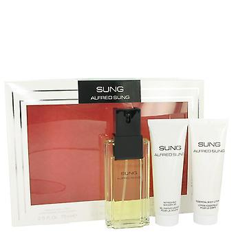 Alfred Sung Gift Set przez Alfred Sung 3,4 uncji Eau De Parfum Spray + 2,5 uncji Balsam do ciała + 2,5 uncji Żel pod prysznic