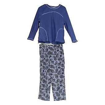 Stan Herman Women's Petite Pajama Set Microfleece Personality Purple A310789