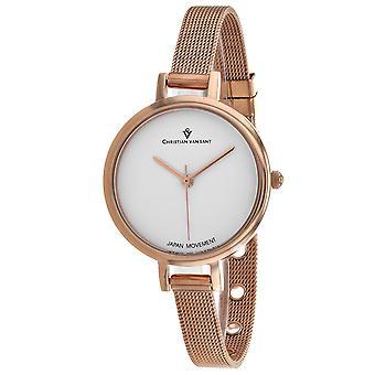 Christian Van Sant Women's Grace White Dial Watch - CV0281