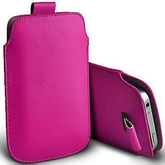 Huawei P30 lite New Edition (Hot Pink) slip i Pull Fliken faux läder telefonfodral /XXXXL