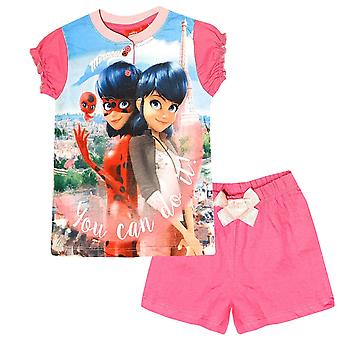 Miraculous ladybug girls pyjama set shorty