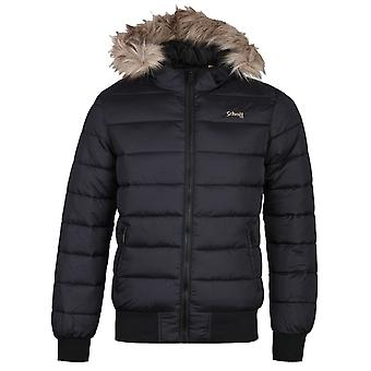 Schott North 19 Black Padded Jacket