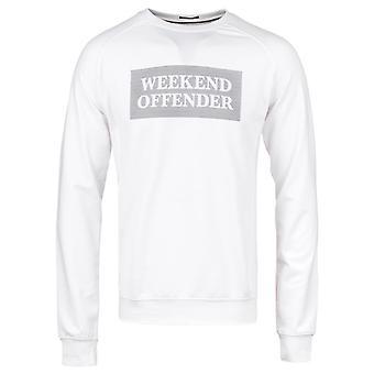 Weekend Offender Manhattan White Raglan Sleeve Sweatshirt