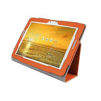 PU Leather Case Cover for Asus Transformer Pad TF303 TF303CL[Orange]