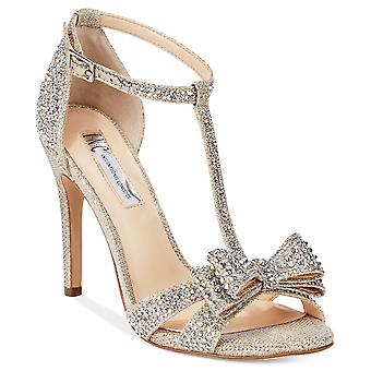 INC International Concepts Womens Reesie2Gld Open Toe Bridal Ankle Strap Sand...