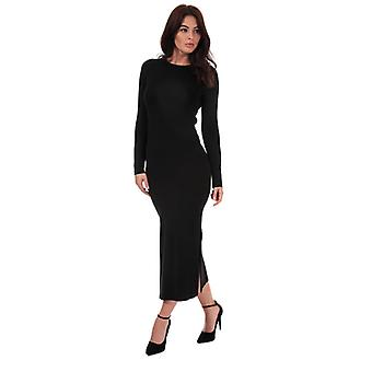 Women's French Connection Jersey Midi Dress in Black