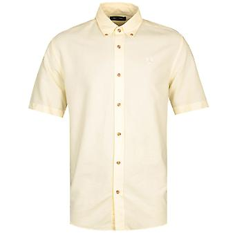 Fred Perry Overdyed Butter Yellow Shirt