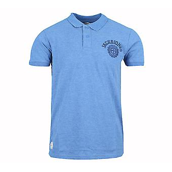 Jack and Jones atletische Polo licht blauw poloshirt