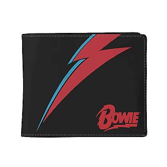 David Bowie Wallet Lightning Flash Logo new Official Black Bifold