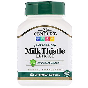 21st century milk thistle extract, veggie capsules, 60 ea *