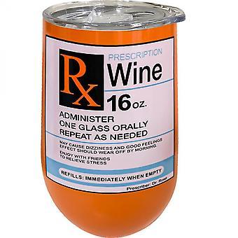 Receita de Vinho De Aço Inoxidável 16 Oz Wine Tumbler
