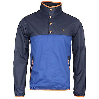 Farah Ralph Overhead Blue Ripstop Jacket