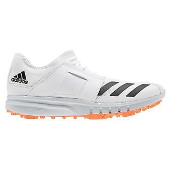 adidas Howzat 20 Mens Adult Cricket Spike Trainer Chaussure Blanche/Orange
