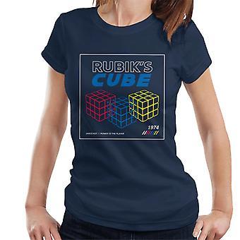 Rubik's Power To The Player Retro Women's T-Shirt