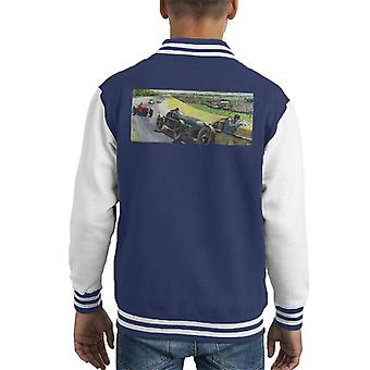 The Saturday Evening Post Vintage Race Car Peter Helck Kid's Varsity Jacket