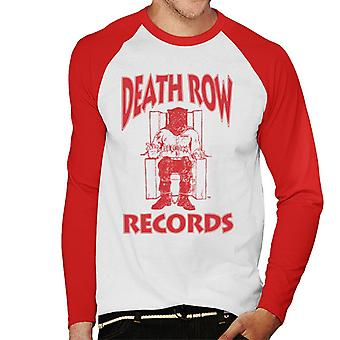 Death Row Records stoel Logo rood mannen honkbal lange mouwen T-Shirt