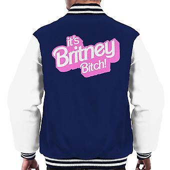 Sa Britney Bitch Men-apos;s Varsity Jacket