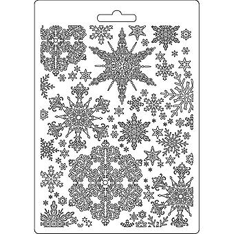 Stamperia Soft Mould A5 Snowflakes