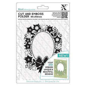 Xcut Cut & Emboss Folder Wreath Aperture