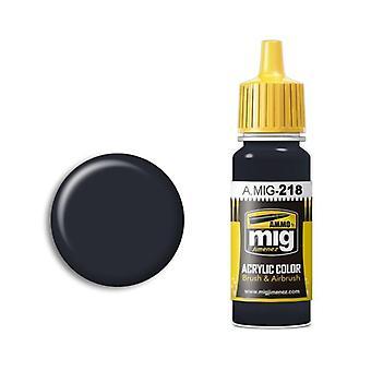 Ammo by Mig Acrylic Paint - A.MIG-0218 RLM 66 Schwartzgrau (17ml)