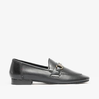 Barbour Sofia Ladies Leather Loafers Black