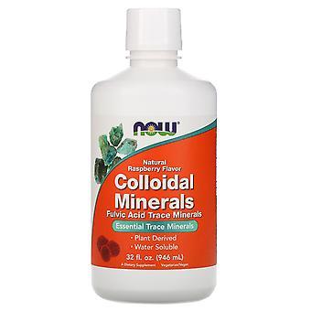 Maintenant Aliments, Minéraux colloïdal, Saveur naturelle de framboise, 32 fl oz (946 ml)