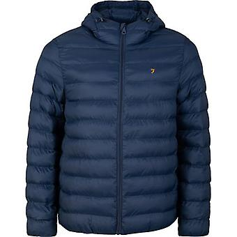 Farah Strickland Hooded Puffer Jacket