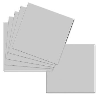 Grigio argento. 153mm x 153mm. 6 Pollici Quadrati. Foglio scheda da 235gm.