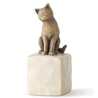 Willow Tree Love My Cat Dark Figurine
