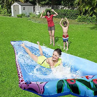 6m Super Long Single Water Slide Lawn Summer Water Games- Supplies Outdoor Backyard Water Park Spray